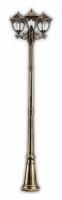 Светильник садово-парковый Feron PL4079 столб четырехгранный 3*60W E27 230V, черное золото