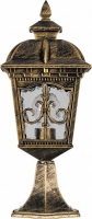 Светильник садово-парковый Feron PL4094 четырехгранный на постамент 60W E27 230V, черное золото