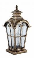 Светильник садово-парковый Feron PL5105 четырехгранный на постамент 100W 230V E27, черное золото