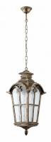 Светильник садово-парковый Feron PL5106 четырехгранный на цепочке 100W 230V E27, черное золото