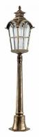 Светильник садово-парковый Feron PL5107 столб четырехгранный 100W 230V E27, черное золото