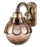 Светильник садово-парковый Feron PL5042 шар на стену вниз 60W E27 230V, черное золото