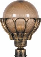 Светильник садово-парковый Feron PL5053 шар на столб 100W E27 230V, черное золото
