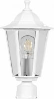 Светильник садово-парковый Feron 6103 шестигранный на столб 60W E27 230V, белый