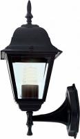 Светильник садово-парковый Feron 4101 четырехгранный на стену вверх 60W E27 230V, черный