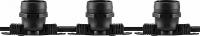 Гирлянда белт-лайт Feron CL50-100 230V черная IP65