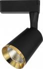 Светодиодный светильник Feron AL111 трековый 12W черный с золотой рамкой