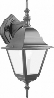 Светильник садово-парковый Feron 4102 четырехгранный на стену вниз 60W E27 230V, черный
