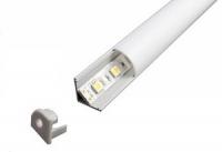 Угловой алюминиевый профиль NUGL 16*16 (овальный рассеиватель)