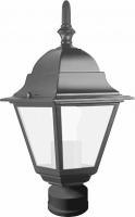 Светильник садово-парковый Feron 4103 четырехгранный на столб 60W E27 230V, черный