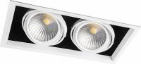Светодиодный светильник карданный 2x30W
