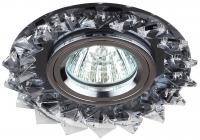 DK44 BK/WH/CH Светильник ЭРА декор «острые кристаллы» MR16,12V/220V, 50W, черный/прозрачный/хром