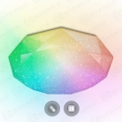 Светильник MAYSUN ALMAZ управляемый 60W RGB R-500-SHINY/WHITE