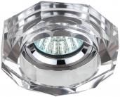 DK6 CH/SL Светильник ЭРА декор стекло объемный многогранник MR16,12V/220V, 50W, GU5,3 хром/зеркальный