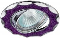 DK17 CH/SH PU Светильник ЭРА декор «звезда со стеклянной крошкой» MR16,12V/220V, 50W, хром/фиолетовый