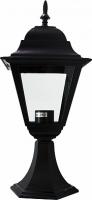 Светильник садово-парковый Feron 4104 четырехгранный на постамент 60W E27 230V, черный