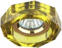DK6 GD/YL Светильник ЭРА декор стекло объемный многогранник MR16,12V/220V, 50W, GU5,3 хром/желт