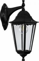 Светильник садово-парковый Feron 6102 шестигранный на стену вниз 60W E27 230V, черный