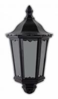 Светильник садово-парковый Feron 6206 шестигранный на стену накладной 60W E27 230V, черный