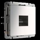 Розетка Ethernet RJ-45 / RJ-45 Werkel глянцевый никель