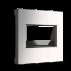 Накладка для двойной розетки Еthernet RJ-45 WL02-RJ45+RJ45-CP(глянцевый никель)