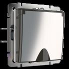 Розетка с заземлением и шторками и крышкой WL02-SKGSC-01-IP44 Werkel глянцевый никель
