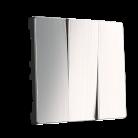 Набор клавиш для выключателя трехклавишного WL02-SW-3G-CP глянцевый никель