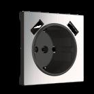 Накладка для USB розетки WL02-USB-CP глянцевый никель