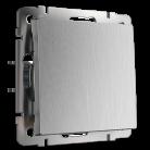 Выключатель одноклавишный проходной WL09-SW-1G-2W Werkel серебрянная рифленая
