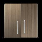 Набор клавиш для выключателя двухклавишного с подсветкой WL12-SW-2G-LED-CP