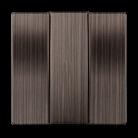 Набор клавиш для выключателя трехклавишного WL12-SW-3G-CP бронзовый