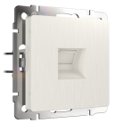 Розетка Ethernet RJ-45 / WL13-RJ-45 Werkel перламутровый рифленный