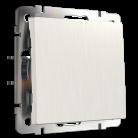 Выключатель одноклавишный проходной WL13-SW-1G-2W Werkel перламутровый рифленный
