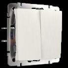Выключатель Двухклавишный проходной WL13-SW-2G-2W Werkel перламутровый рифленный