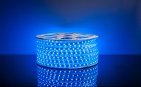 Герметичная светодиодная лента 5050/60 LED 220V синий свет