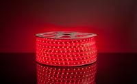 Герметичная светодиодная лента 5050/60 LED 220V красный свет