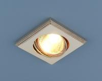 Квадратный точечный светильник 105A PS/N (перламутровое серебро / никель)