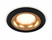 XC7622005 SBK/PYG черный песок/золото желтое полированное MR16