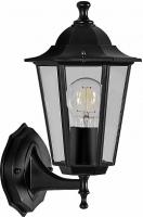 Светильник садово-парковый Feron 6101 шестигранный на стену вверх 60W E27 230V, черный