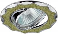DK17 CH/SH CY Светильник ЭРА декор «звезда со стеклянной крошкой» MR16,12V/220V, 50W, хром/салатовый