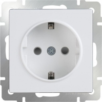 Werkel Розетка с заземлением WL01-SKG-01-IP20 белая