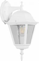 Светильник садово-парковый Feron 4102 четырехгранный на стену вниз 60W E27 230V, белый