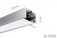 Встраиваемый алюминиевый профиль 6332